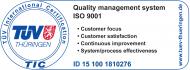 Certificaţi ISO 9001 - TÜV Thüringen